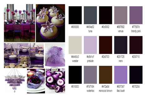 palette purple brown