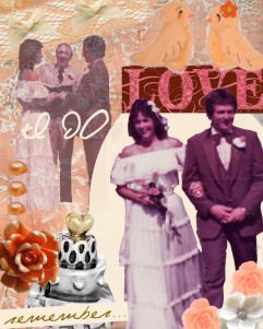 Mom and Dad vintage collage