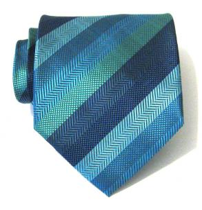 teak striped tie